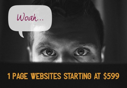 Waoh... 1 page websites starting at $599