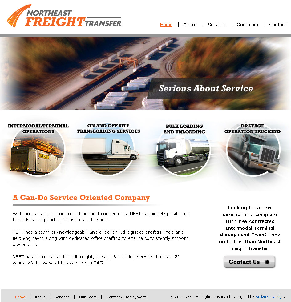 Freight Website Design by BullzeyeDesign.com