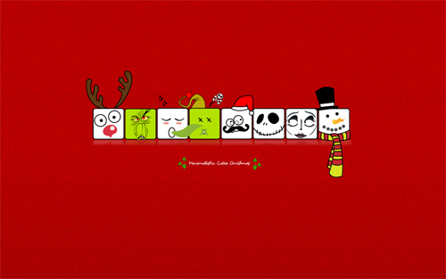 Free Christmas Desktop Wallpaper - Cubie Christmas
