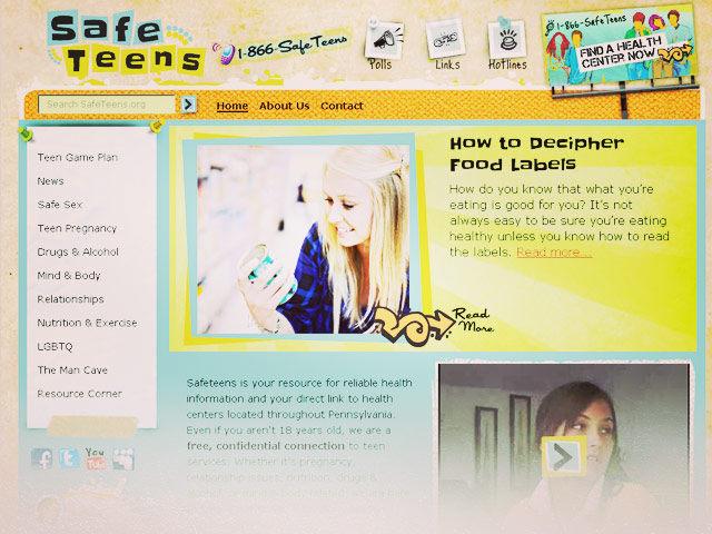 Safeteens Website