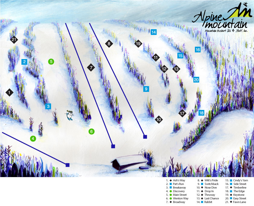 Alpine Mountain Trail Map Design by BullzeyeDesign.com