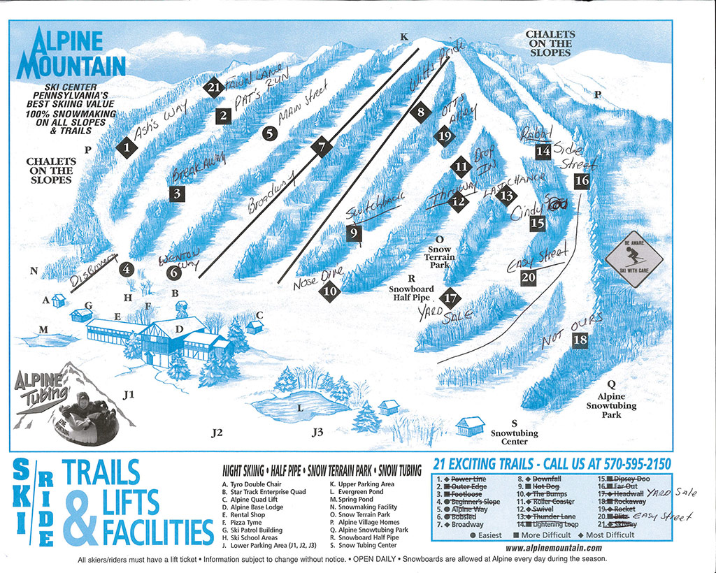 Alpine Trail Map - Before