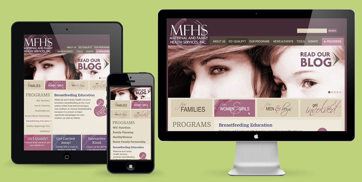 MFHS responsive website design