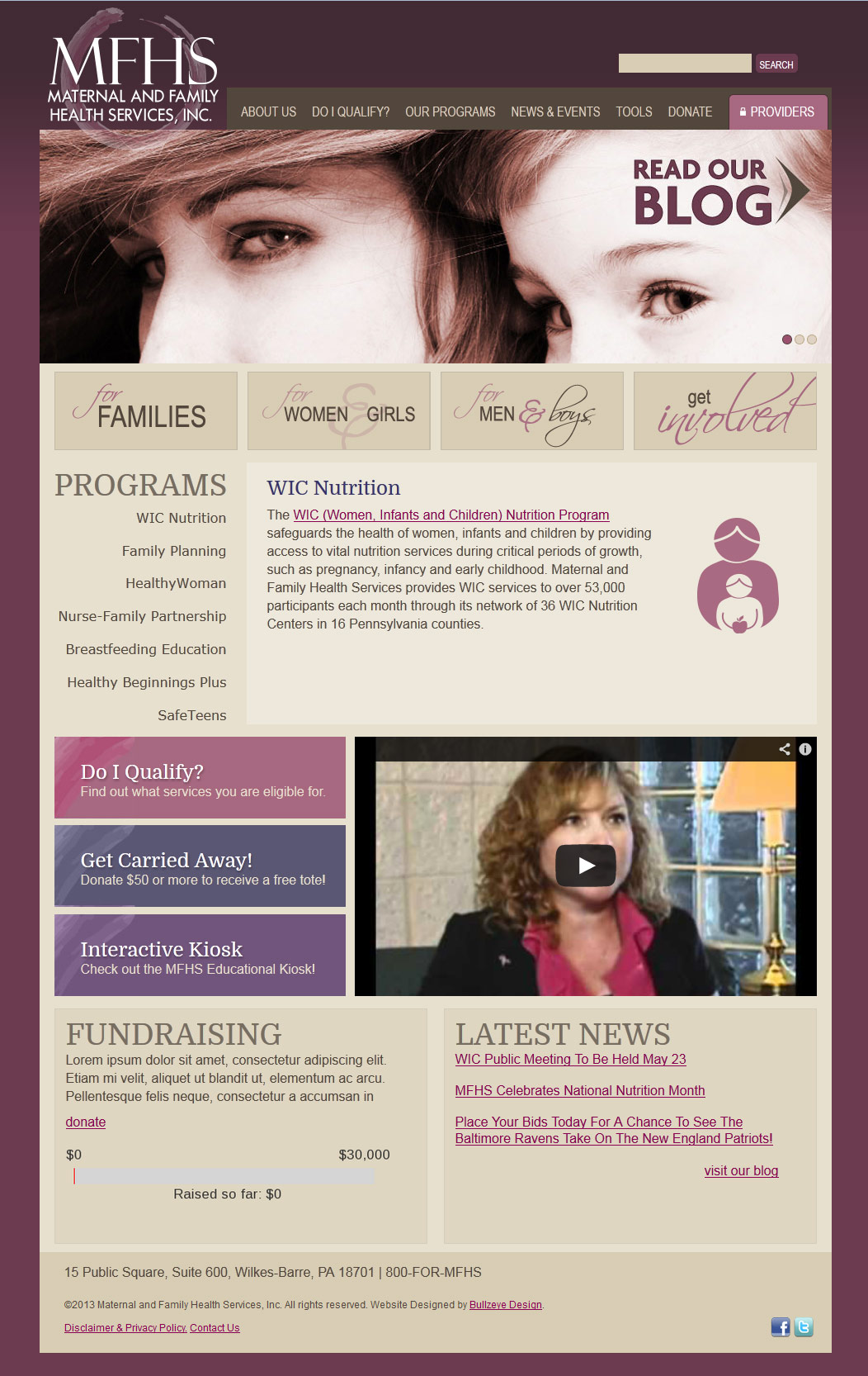 family services website design AFTER
