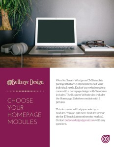 Homepage Modules by BullzeyeDesign.com
