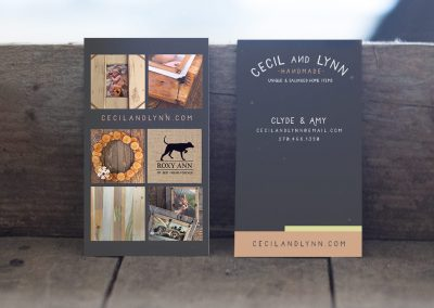 Cecil and Lynn Handmade Business Cards