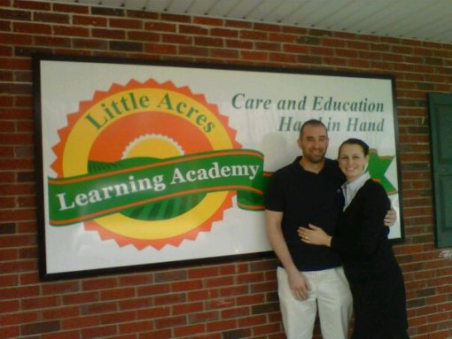 Little Acres Day Care Logo Sign