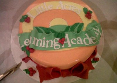 Little Acres Logo Cake
