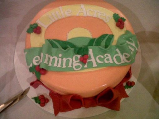Little Acres Daycare Logo on a cake