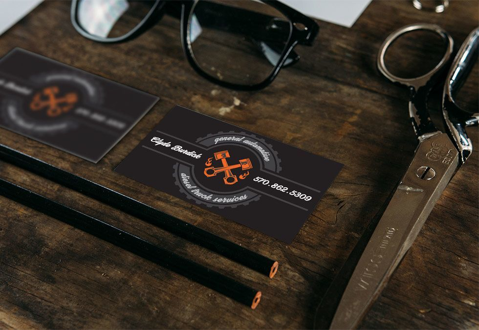 Mechanic Business Cards, BullzeyeDesign.com