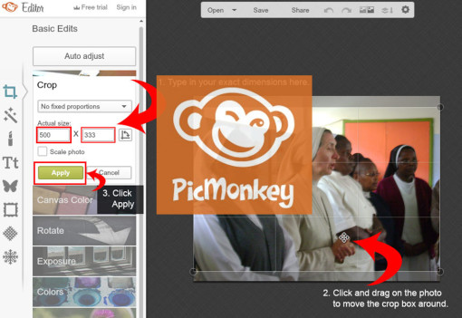 Crop and Resize Photos to Exact Dimensions Using PicMonkey