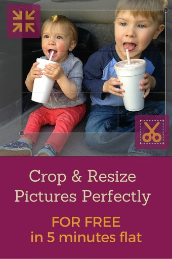How To Crop & Resize Pictures Perfectly For Free in 5 Minutes Flat