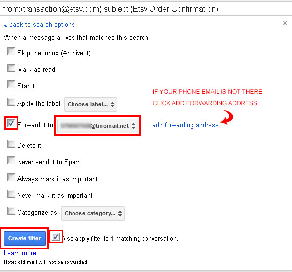Create Your Gmail Filter