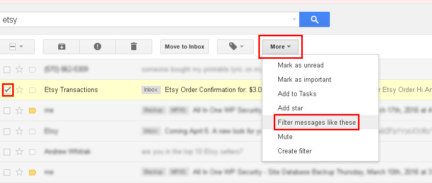 Use Gmails Filter Option to text important emails to your phone