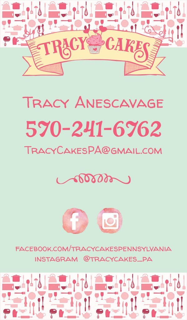 Tracy Cakes Business Cards   Bullzeye Design