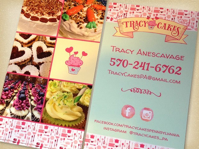 Tracy Cakes Business Cards