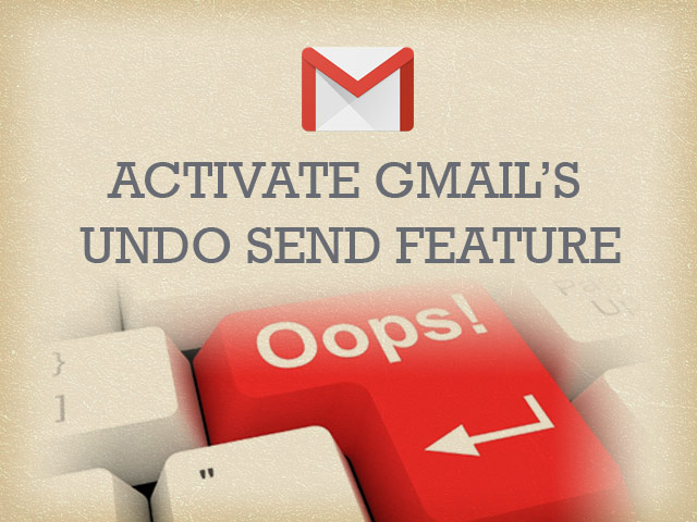 Enabling Gmail Undo Send Feature
